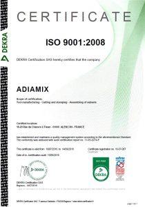 certificat ENG